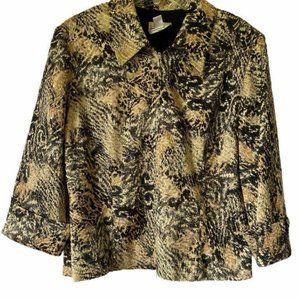 Joseph Ribkoff Womens Jacket Beige Brown Abstract